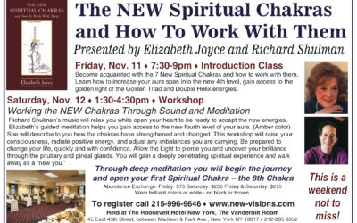 Workshop – The NEW Spiritual Chakras and How To Work With Them