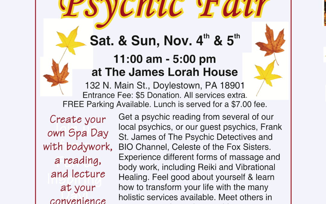 Fall Holistic and Psychic Fair 2017