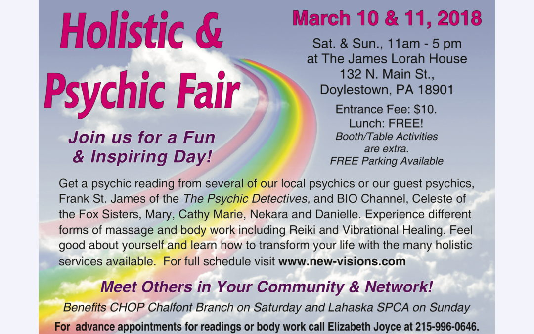 Holistic and Psychic Fair Reminder