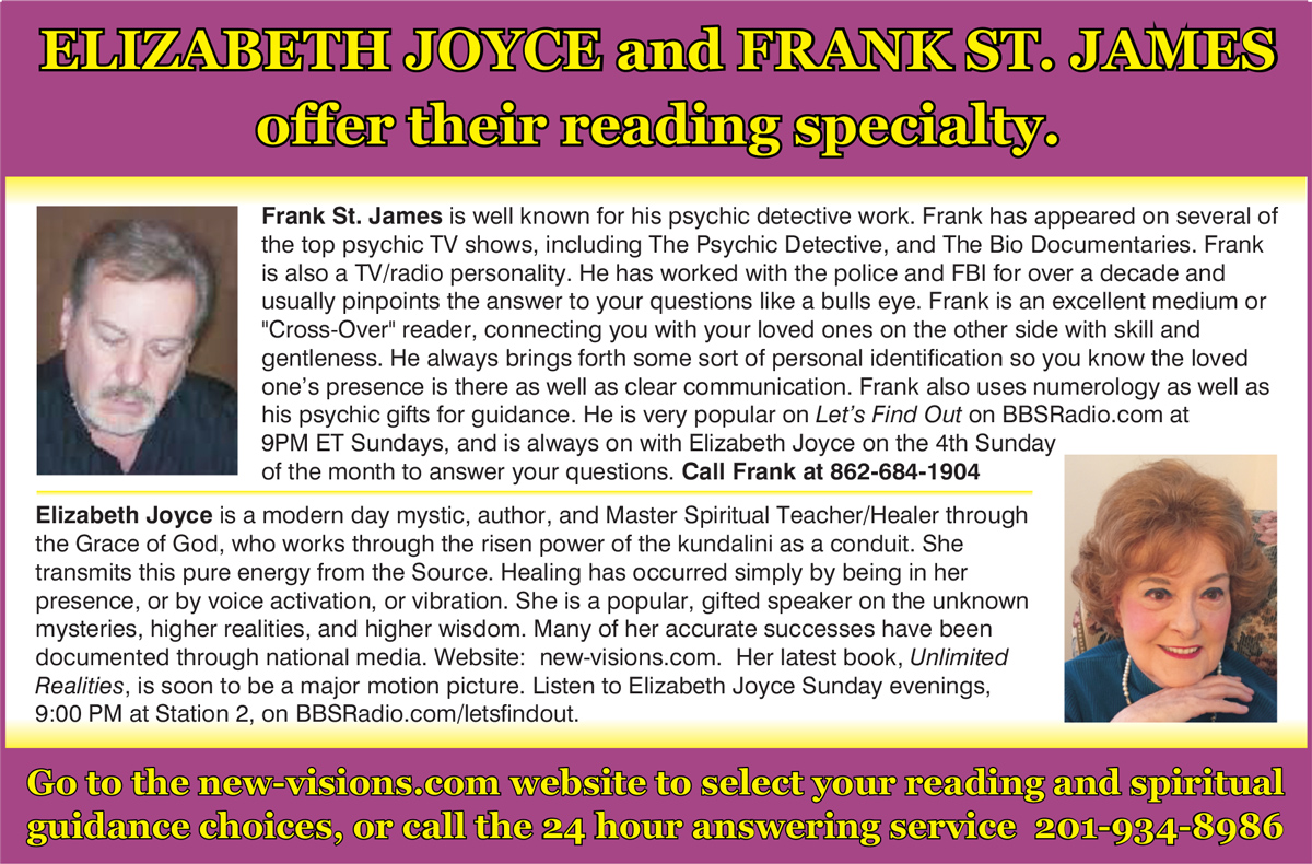 Frank St  James - The Psychic Detective and Crossover Reader