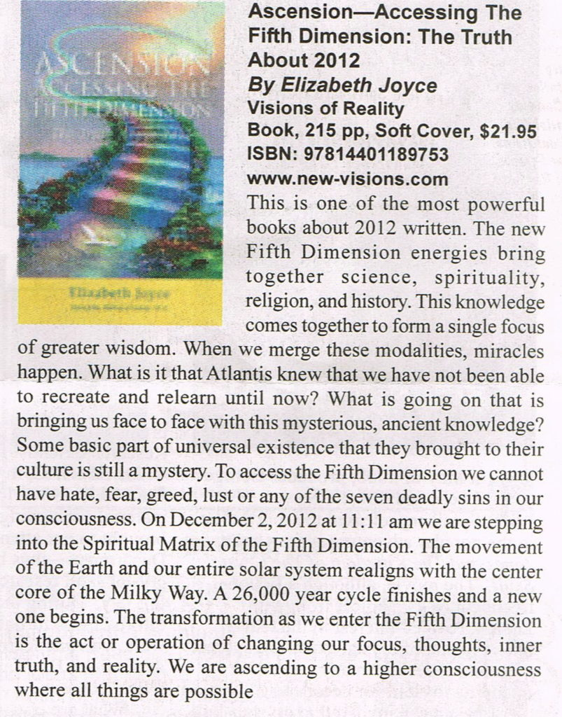 Ascension Book Review-Wisdom 6:2010