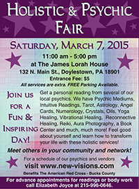 Holistic and Psychic Fair Flyer