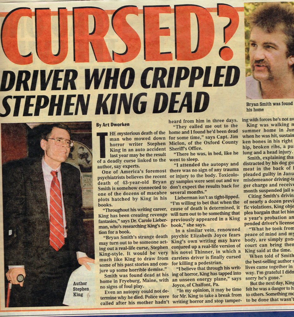 Stephen King Story-Examiner-10-17-00
