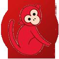 monkey-red
